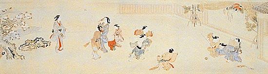 江戸時代の子供たちと見守る大人